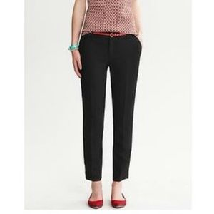 Banana Republic Martin Fit Black Slim Ankle Pant